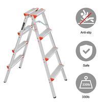 4 Step Ladders Folding Step Stool Lightweight Aluminum Multi Purpose  (330lbs)