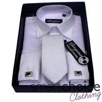 BOYS WHITE & BLACK FORMAL SHIRT AND TIE SET PAGE BOY WEDDING PROM SUIT SHIRTS