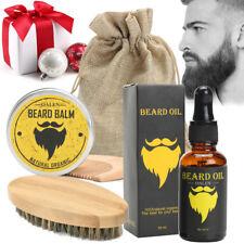 5Pcs Mens Grooming Gift Box Set, Moustache Balm,Beard Care Oil,Comb,Brush & Bag