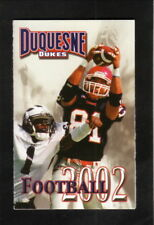 Duquesne Dukes--2002 Football & Volleyball Pocket Schedule--Prudential Realty