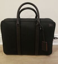 Jack Spade Chargeable Commuter Brief, Black Waxwear, Power Jack Collection, $548