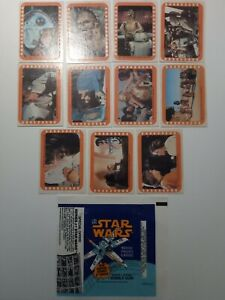 TOPPS 1977 STAR WARS TRADING CARD STICKERS SERIES 5 + WAX WRAPPER
