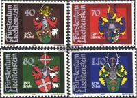 Liechtenstein 743-746 (kompl.Ausg.) postfrisch 1980 Wappen