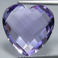 9.02Ct Excellent Natural Amethyst Heart Shape 15x7mm Loose Gemstone Ref VDO