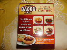 As Seen on TV Bacon Bowl 2 Bowls Oven Microwave Dishwasher Safe NEW Bread Bowl