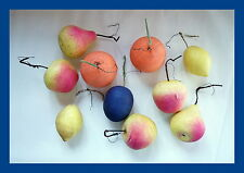 Mixed Lot large Cotton Fruits - Christmas Ornaments    ~ 1950  (# 4182)