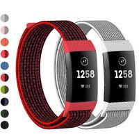 Handgelenk (Strap) Ersatz Armband Atmbar Nylon Fiber Band For Fitbit Charge 3