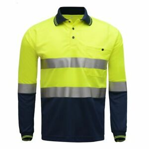 Latest Safety Work Polo Shirt Reflective High Visibility Long Sleeve Work Wears