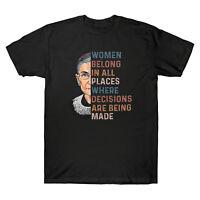 RBG Ginsburg Women Belong In All Places Men's T-Shirt Cotton Tee Top