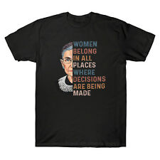 RBG Ruth Bader Ginsburg Women Belong In All Places Men's T-Shirt Cotton Tee Top