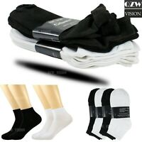 Lot 4-12 Pairs Mens Low Cut Quarter Ankle Sports Cotton Socks Crew  9-11 10-13