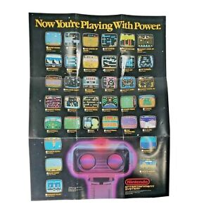 """Nintendo """"Now You're Playing With Power"""" NES ROB Robot Poster Vintage 1987 11X16"""
