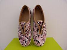 Hotter Mabel Pink Animal print  Textile flat shoes sz 4 UK, 6 US, 37 EU