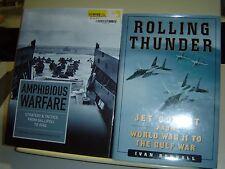 LOT 2 HB BOOK Amphibious Warfare Speller Tuck ROLLING THUNDER Jet Combat RENDALL