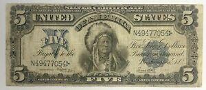 1899 $5 SILVER CERTIFICATE, FR-281, FINE+ W/ A NICE LOOK!