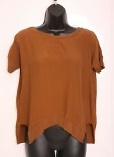 Zara Brown Ladies Oversized Blouse Tunic Top Size 10 S EUR 38
