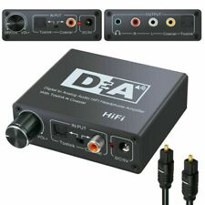 192kHz Digital Optical Coaxial Toslink to Analog- RCA L/R 3.5mm Audio Converter*