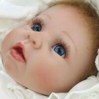 "BEAUTIFUL & UNIQUE REBORN BABY DOLL SOFT VINYL REALISTIC AREYLIC EYES 22"" 55 CM"