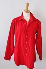 Vtg 80s Pendleton Wool Flannel Shirt Men Small punk GRUNGE lumberjack red F03