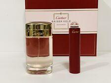 Cartier Baiser Vole Women Perfume Gift Set Edp Spray 2.5 Oz + 0.5 Oz New In Box