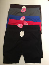 LOT 6 Womens Seamless Microfiber Long Push Up Yoga Bike boxer underwear S M L XL