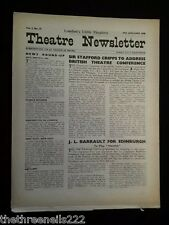 THEATRE NEWSLETTER - JAN 24 1948 - JL BARRAULT FOR EDINBURGH