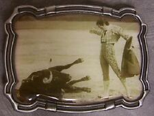 Pewter Belt Buckle Rodeo Bull Fight el Matador NEW
