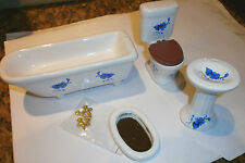 dolls house furniture bathroom suite 1/12th scale toy
