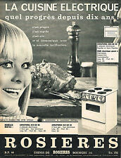 PUBLICITE ADVERTISING  1966   ROSIERES  cuisiniere éléctrique