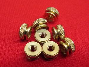 NEW 1930's style spark plugs knurl nuts brass fits original plugs set of 8  A11B