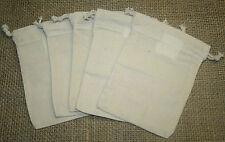 5 Baumwollsäckchen, Duftsack, Kräutersäckchen, Stoffbeutel, 10x14cm, mit Zugband
