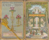 """* CALENDARIETTO - Almanacco Sirio """"Fiori e Sogni"""" 1927"""