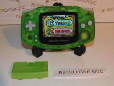 console game boy advance vert translucide rétroéclairée mod AGS 101 rare