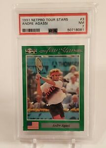 1991 NetPro Tour Stars Andre Agassi #3 Rookie RC