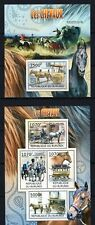 BURUNDI 2012 - LES CHEVAUX HORSES CHEVAL CARRIAGE TRANSPORT FAUNA STAMPS MNH**