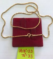 Gold Authentic 18k gold necklace 18 inches chain