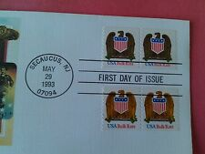 Fleetwood  Scott 2604 Eagle Shield (10c) 1993  Coil Pairs  1st Day Cover Mint