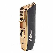 Jobon Triple 3 Jet Flame Cigar Cigarette Refillable Torch Lighter Scrub Black