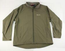 Marmot Mens Full Zip Soft Shell Fleece Lined Olive Green Jacket 2XL XXL