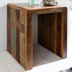 WOHNLING Beistelltisch Kalkutta 45 x 40 x 55 cm Couchtisch Nachttisch Wohnzimmer