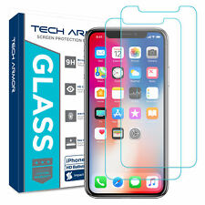 Tech Armor Apple iPhone X, Ballistic Glass Screen Protector [2-Pack]