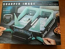 Sharper Image Electronic Tabletop Hockey Motorized Goalies NEW 2 Player RV $60