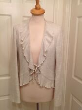 PRINCIPLES, IVORY WATERFALL BOLERO OCCASION JACKET, TIE FRONT, WOMANS SIZE 10