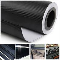 3D Car Interior Accessories Interior Panel Black Carbon Fiber Vinyl Wrap Sticker