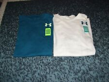 Under Armour Heat Gear Boys Size YMD Lot of 2 Short Sleeve Shirts New With Tags