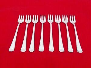 Set of 8 Gorham Sterling Silver Fairfax Seafood Forks HN-6