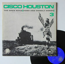 """Vinyle 33T Cisco Houston  """"The open road (hobo and wobbly songs)"""""""