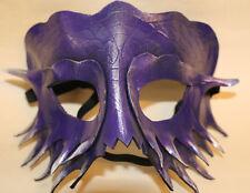 Máscara De Dragón Serpiente Púrpura Cuero Hecha a Mano Veneciana Mascarada Púrpura/Plata