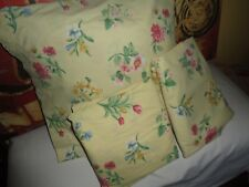 SPRINGS FULL BLOOM YELLOW PINK GREEN FLORAL STRAWBERRIES (3PC) TWIN SHEET SET