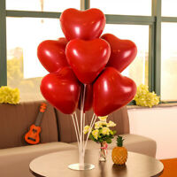 10 Set Clear Balloons Sticks Stand Balloon Column Base Table Birthday Decor 70cm